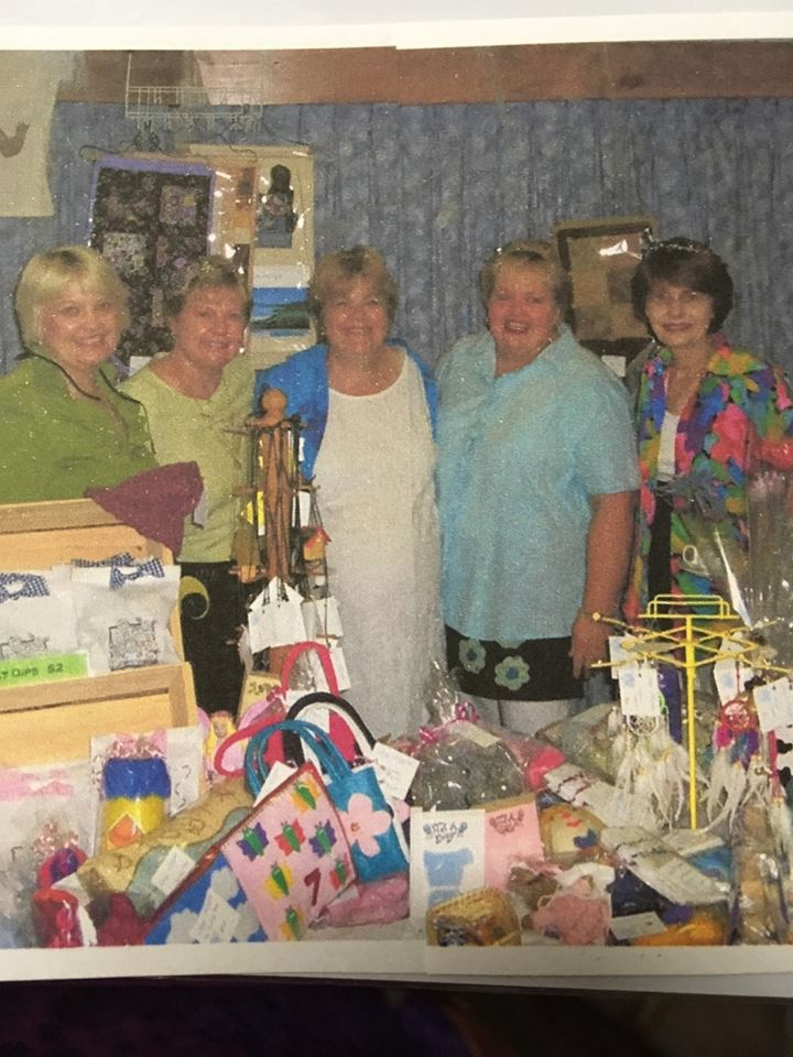 Craft Stall ladies picture from previous flower show, still great team today